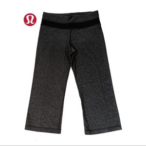 Lululemon Groove Crop Heathered Black /Black 4